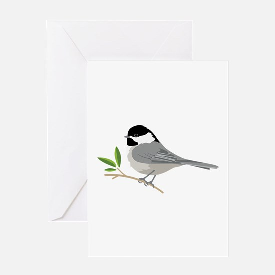 Black-Capped Chickadee Greeting Cards