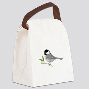 Black-Capped Chickadee Canvas Lunch Bag