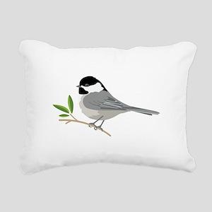 Black-Capped Chickadee Rectangular Canvas Pillow