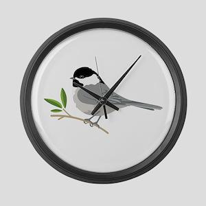 Black-Capped Chickadee Large Wall Clock