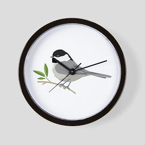 Black-Capped Chickadee Wall Clock