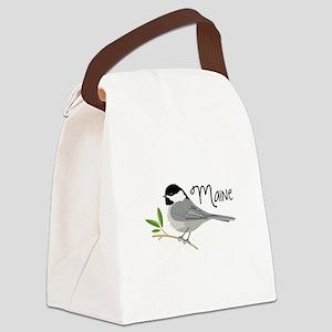 maiNe Chickadee Canvas Lunch Bag