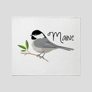 maiNe Chickadee Throw Blanket