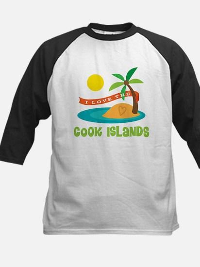 I Love The Cook Islands Kids Baseball Jersey
