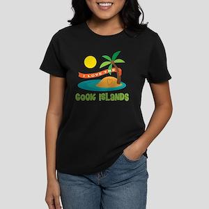 I Love The Cook Islands Women's Dark T-Shirt
