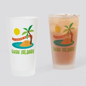 I Love The Cook Islands Drinking Glass