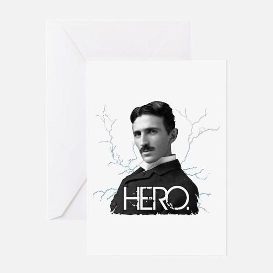 HERO. - Nikola Tesla Greeting Cards