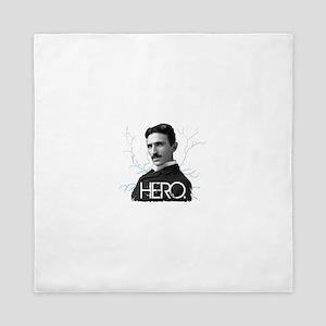 HERO. - Nikola Tesla Queen Duvet