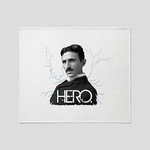 HERO. - Nikola Tesla Throw Blanket