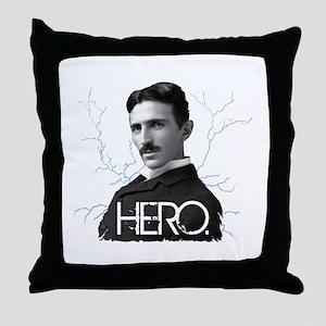 HERO. - Nikola Tesla Throw Pillow