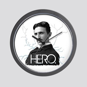 HERO. - Nikola Tesla Wall Clock