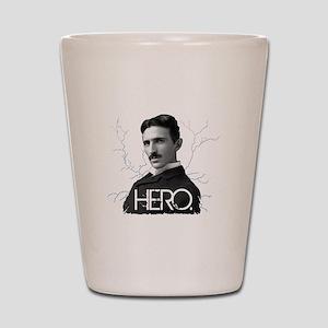 HERO. - Nikola Tesla Shot Glass