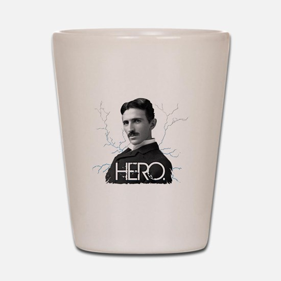 HERO. - Nikola Tesla Shot Glass