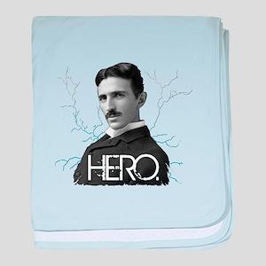 HERO. - Nikola Tesla baby blanket