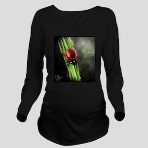 Lady Bug Long Sleeve Maternity T-Shirt