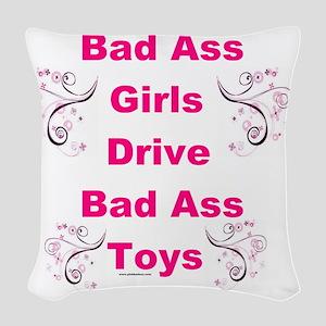 Bad Ass Girls  Woven Throw Pillow