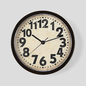 Dieselpunk Big Numbers Vintage Wall Clock