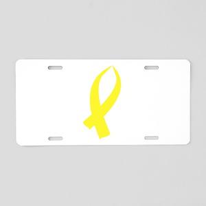 Awareness Ribbon (Yellow) Aluminum License Plate