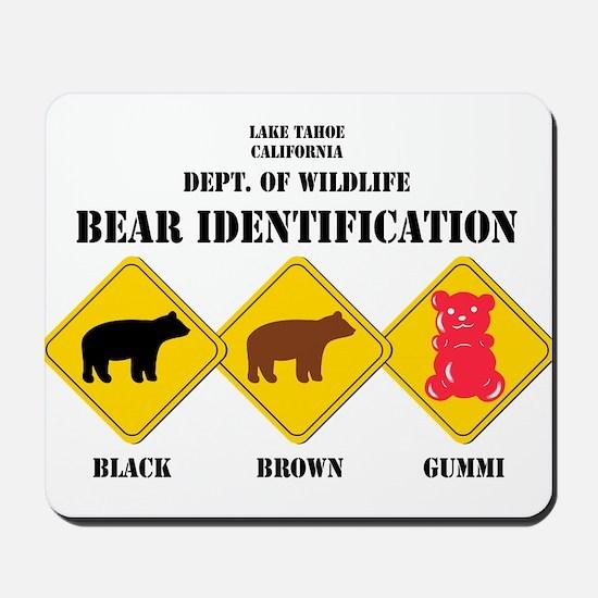 Gummi Bear Warning - Tahoe Mousepad
