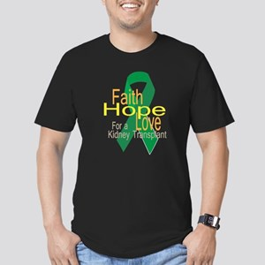 Faith,Hope,Love For A Men'S Fitted T-Shirt (Dark)