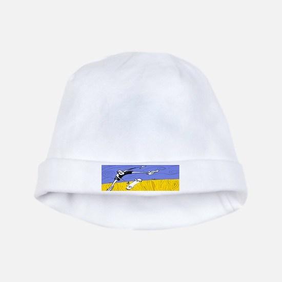 Half Pipe Skateboarder baby hat