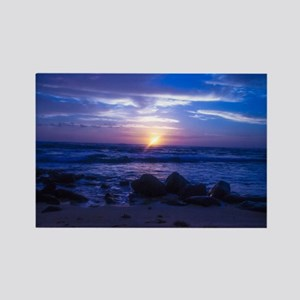 Beautiful blue Kauai sunset. Rectangle Magnet