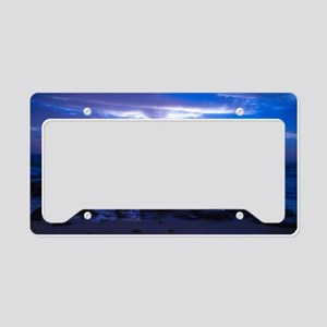 Beautiful blue Kauai sunset. License Plate Holder