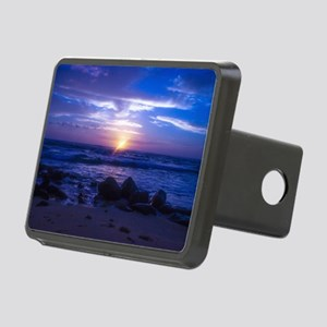 Beautiful blue Kauai sunse Rectangular Hitch Cover