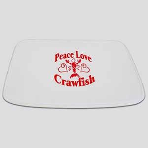 PeaceLoveCrawfish1tran Bathmat
