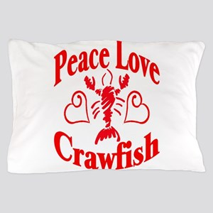 PeaceLoveCrawfish1tran Pillow Case
