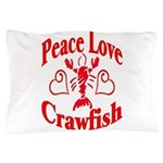PeaceLoveCrawfish1tran Pillow Case