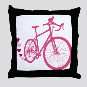 Bike Love Throw Pillow