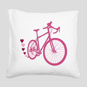 Bike Love Square Canvas Pillow