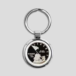2005 Marine Corps Dollar Round Keychain