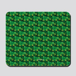 Four Leaf Clover St Patricks Day Luck Mousepad