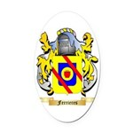 Ferrieres Oval Car Magnet