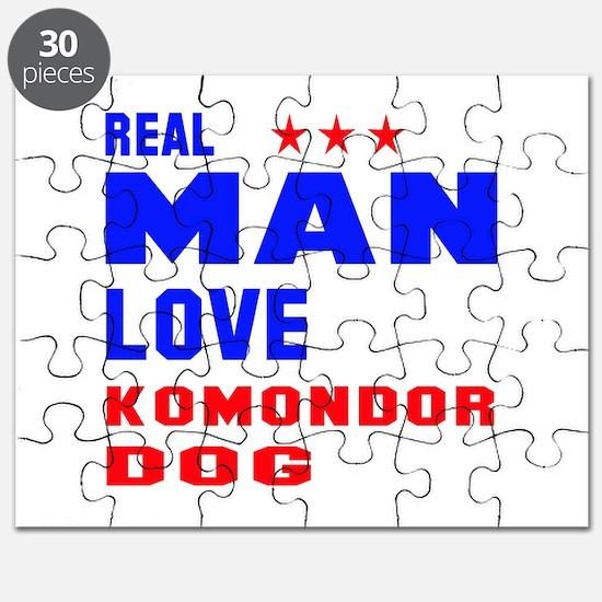 Real Man Love Komondor Dog Puzzle