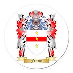 Ferretti Round Car Magnet