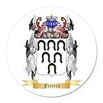 Ferrers Round Car Magnet