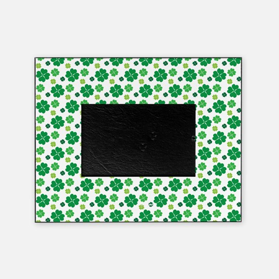 Saint Patricks Day Cute Green Clover Picture Frame