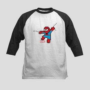 8 Bit Spiderman Kids Baseball Jersey