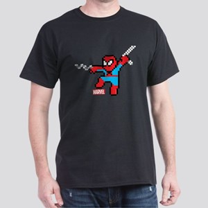 8 Bit Spiderman Dark T-Shirt