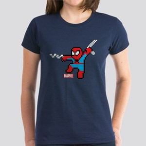 8 Bit Spiderman Women's Dark T-Shirt