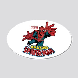 The Amazing Spiderman 20x12 Oval Wall Decal