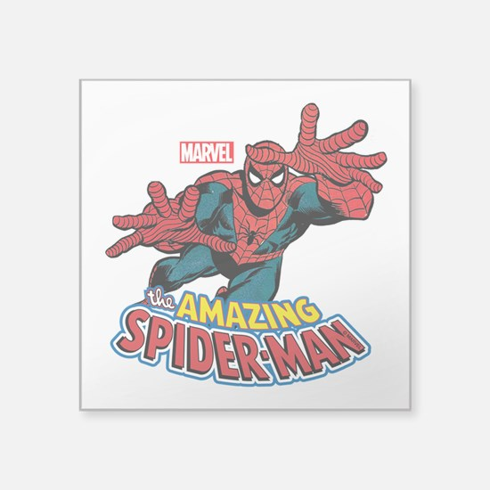 "The Amazing Spiderman Square Sticker 3"" x 3"""