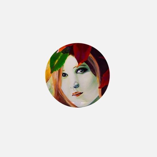 Lady Leaf Mini Button