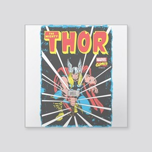 "The Mighty Thor Square Sticker 3"" x 3"""