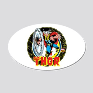 The Mighty Thor Hammer 20x12 Oval Wall Decal