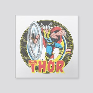 """The Mighty Thor Hammer Square Sticker 3"""" x 3"""""""