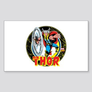 The Mighty Thor Hammer Sticker (Rectangle)